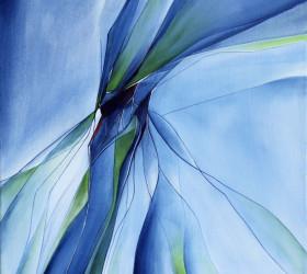 Maleri af insekternes dans i det lidt kolde morgenlys