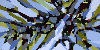 Abstrakt maleri om at gå en tur