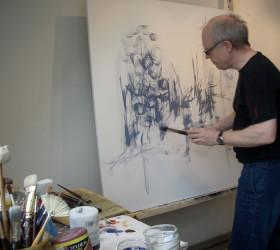 Male et abstrakt maleri
