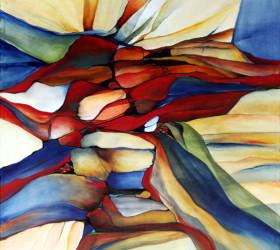 Abstrakt maleri over udvikling