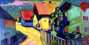 Kandinsky skabte  farverige og dog enkle kompositioner
