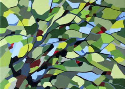 Abstrakt kunst skovens farver