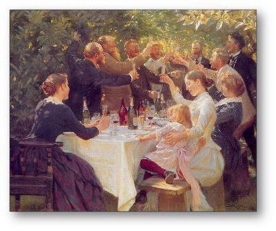 Skagensmalerne til fest i Anchers Have