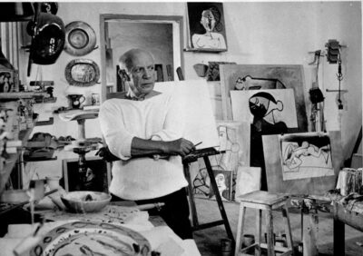 Picasso i sit atelier