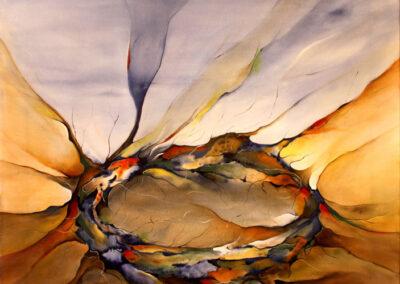 Abstrakt maleri af redens trygge rammer