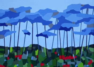 Blå skov