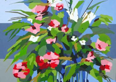 Blomster i glasvase