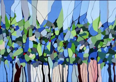 Skovens farver maleri
