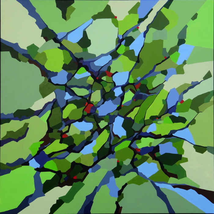 Abstrakt malere skov